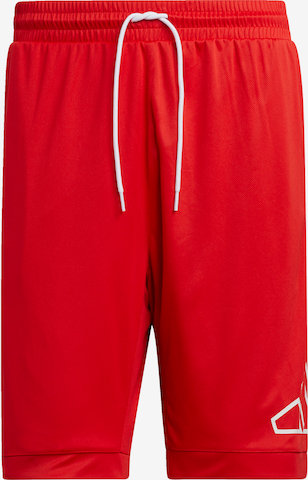 ADIDAS PERFORMANCE Shorts in Rot