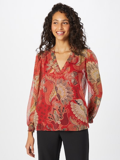 Twinset Blouse in Opal / Honey / Red / Black: Frontal view