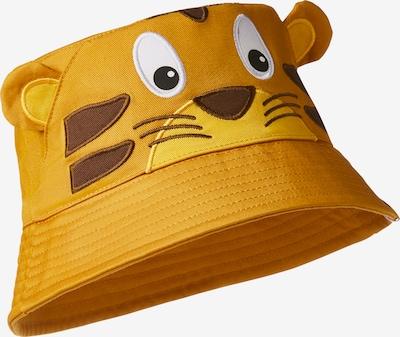 Affenzahn Hut in dunkelbraun / orangemeliert / schwarz / weiß, Produktansicht