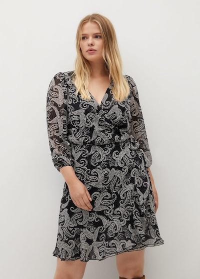 VIOLETA by Mango Kleid 'zebre7' in schwarz, Modelansicht
