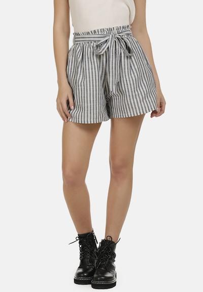 DreiMaster Vintage Shorts in grau / weiß, Modelansicht