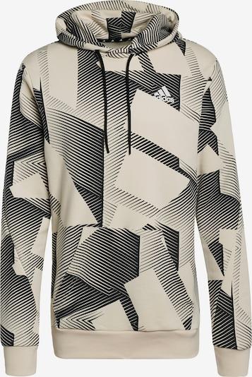 ADIDAS PERFORMANCE Sweatshirt in beige / schwarz, Produktansicht