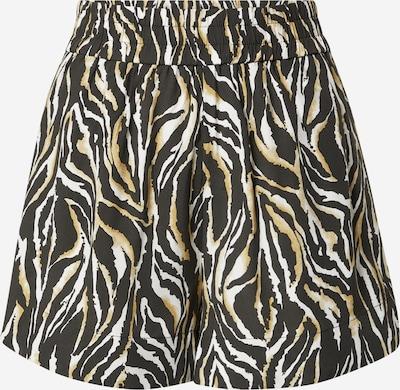 mbym Shorts 'Lorinea' in senf / schwarz / weiß, Produktansicht