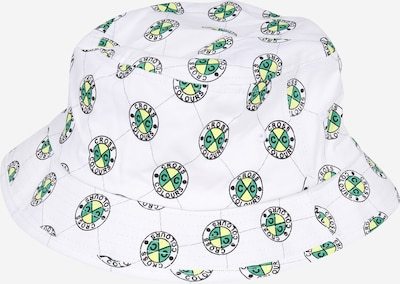 CROSS COLOURS Hut in gelb / grün / schwarz / weiß, Produktansicht
