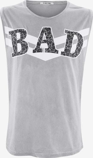 trueprodigy Shirt ' Cliff ' in hellgrau / dunkelgrau / weiß, Produktansicht