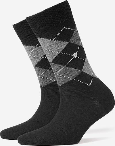 BURLINGTON Socken in grau / schwarz / weiß: Frontalansicht
