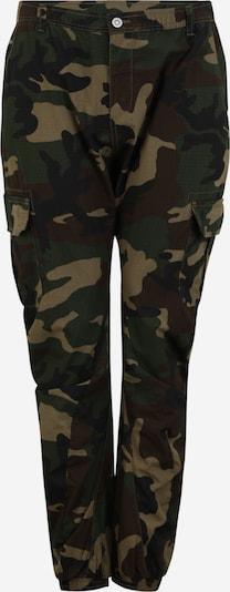 Urban Classics Big & Tall Pantalon cargo en vert foncé / mélange de couleurs, Vue avec produit