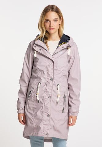 Schmuddelwedda Between-Seasons Coat in Pink