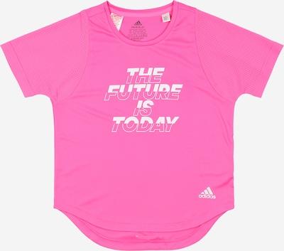 ADIDAS PERFORMANCE T-Shirt fonctionnel en rose / blanc, Vue avec produit