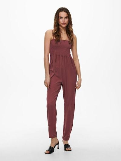 ONLY Jumpsuit in de kleur Pastelrood, Modelweergave
