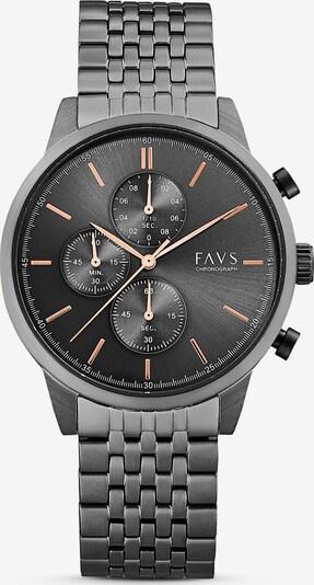 FAVS Uhr in grau, Produktansicht