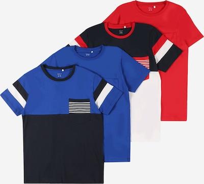Tricou 'Nes' NAME IT pe albastru noapte / azuriu / roșu / alb, Vizualizare produs
