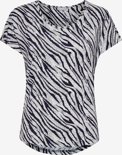 Fransa Shirt mit Allover Print in de kleur Zwart / Wit, Productweergave