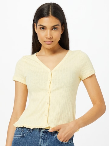 VILA Knit Cardigan in Yellow