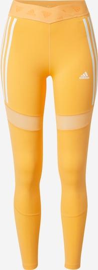 ADIDAS PERFORMANCE Pantalon de sport en orange clair / blanc, Vue avec produit