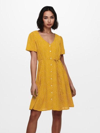 ONLY Robe-chemise 'ONLSONJA' en jaune, Vue avec modèle