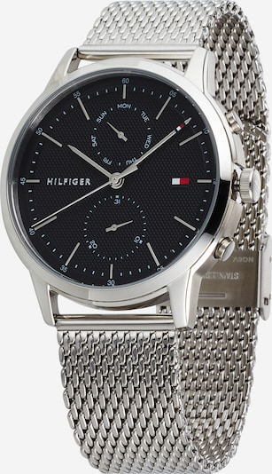 TOMMY HILFIGER Analógové hodinky 'EASTON' - čierna / strieborná, Produkt