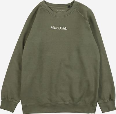 Marc O'Polo Junior Sweatshirt in de kleur Olijfgroen / Wit, Productweergave