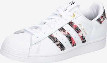 ADIDAS ORIGINALS Matalavartiset tennarit 'SUPERSTAR W' värissä valkoinen