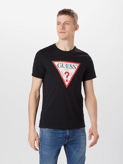 GUESS Тениска в червено / черно / бяло, Преглед на модела