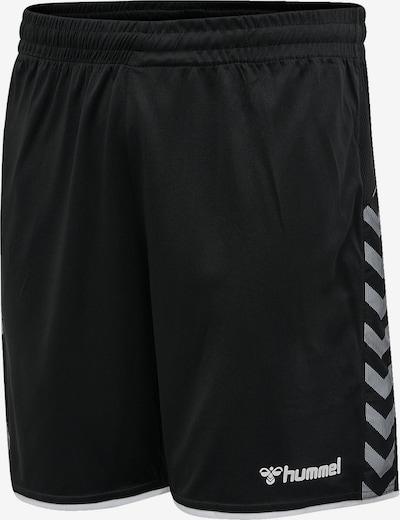 Hummel Shorts in grau / schwarz / weiß, Produktansicht