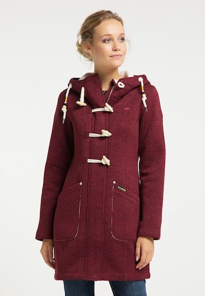 Schmuddelwedda Manteau mi-saison en rouge pastel / rouge foncé / blanc, Vue avec modèle