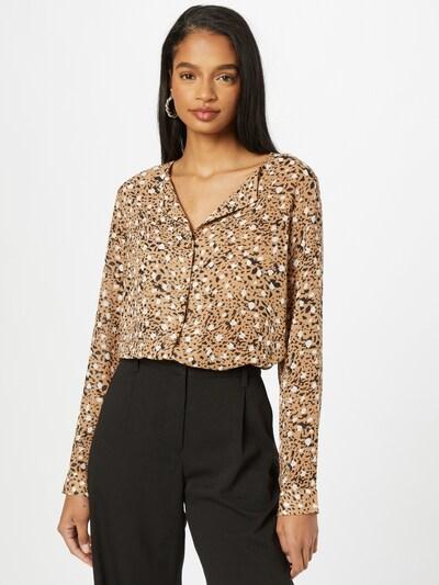 VILA Blouse 'ADELINE' in Brown / Black / White, View model