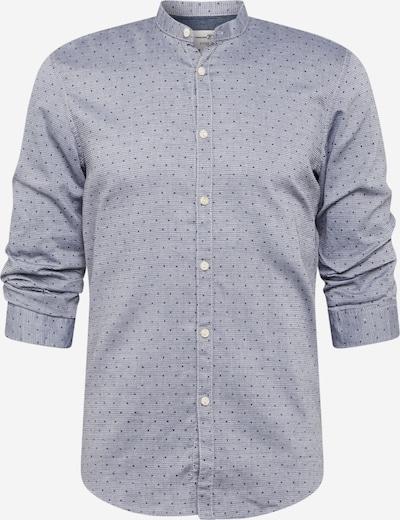 TOM TAILOR DENIM Hemd in taubenblau / hellgrau / schwarz, Produktansicht
