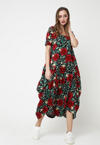 Madam-T Maxikleid 'KOSKA' in rot / schwarz, Modelansicht