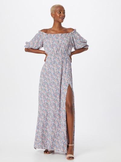 NA-KD Kleid 'Anika' in himmelblau / hellblau / pfirsich / rosa, Modelansicht