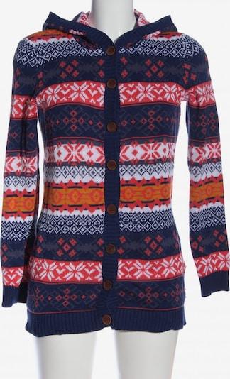John Baner JEANSWEAR Cardigan in XS in blau / hellorange / rot, Produktansicht