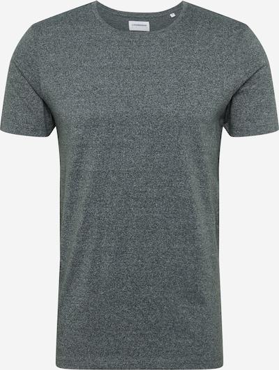 Lindbergh T-Shirt 'Mouliné o-neck tee S/S' en vert foncé, Vue avec produit