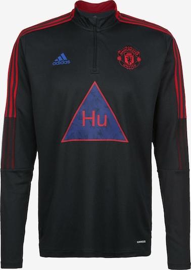 ADIDAS PERFORMANCE Sweat de sport 'Manchester United Human Race' en gris / rouge / noir, Vue avec produit
