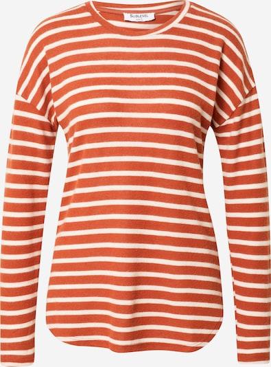 Sublevel Shirt in hellorange / weiß, Produktansicht