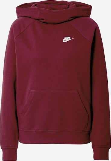 Nike Sportswear Sweatshirt in weinrot / weiß, Produktansicht