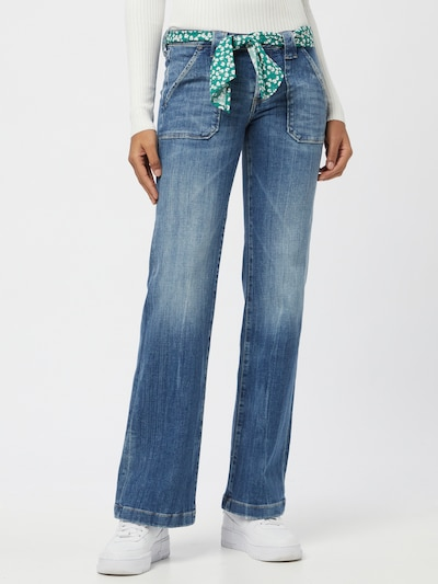 Le Temps Des Cerises Jeans 'FLARE' in blau, Modelansicht