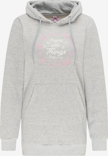 MYMO Sweatshirt in grau / pink / weiß, Produktansicht