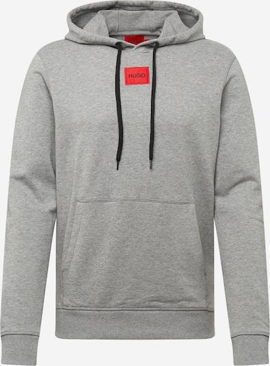HUGO Sweatshirt 'Daratschi212' in hellgrau / rot / schwarz, Produktansicht