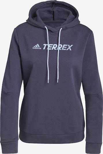 adidas Terrex Sportsweatshirt in marine / hellblau / weiß, Produktansicht