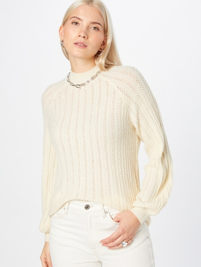 VILA Jersey en blanco lana, Vista del modelo