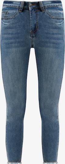 Finn Flare Jeans mit modischer Used-Waschung in blau, Produktansicht