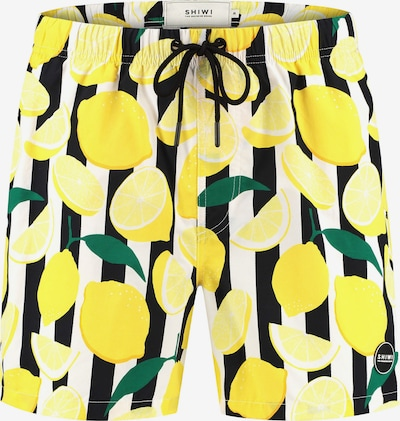 Shiwi Plavecké šortky - žltá / tmavozelená / čierna / biela, Produkt