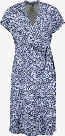 GERRY WEBER Kleid mit Wickeleffekt in blau / weiß, Produktansicht