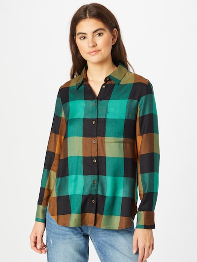 s.Oliver Blouse in Blue / Light brown / Green / Black, View model