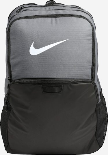 NIKE Sports Backpack 'Brasilia' in Grey / Black / White, Item view