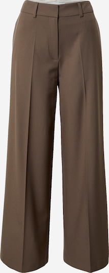Samsoe Samsoe Trousers with creases 'Zepherine' in Brown, Item view