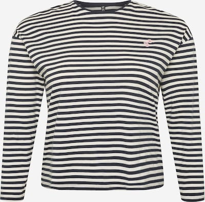 PIECES Curve Shirt 'WENDOLYN' in de kleur Donkerblauw / Wit, Productweergave
