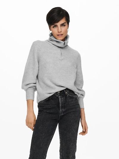 ONLY Pullover 'KARINNA' in hellgrau, Modelansicht