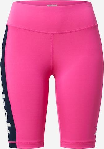 Pantalon de sport Reebok Sport en rose