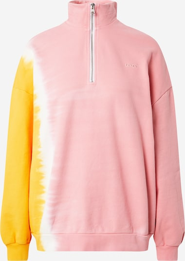 LEVI'S Sweat-shirt 'YESTERDAY' en orange / rose / blanc, Vue avec produit